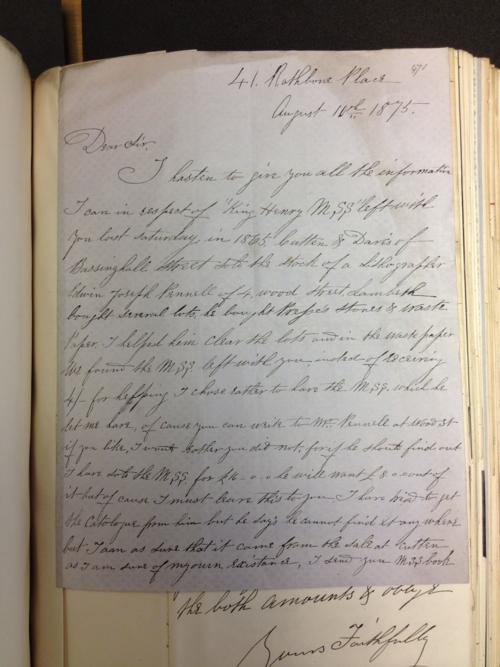 1 Forest Charter Letter