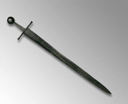 A double-edged sword made in the 13th century.