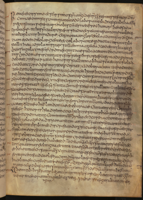 Text page in the Moore Bede